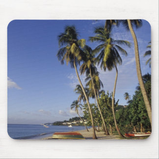 CARIBBEAN, Grenada, St. George, Boats on palm Mouse Pad