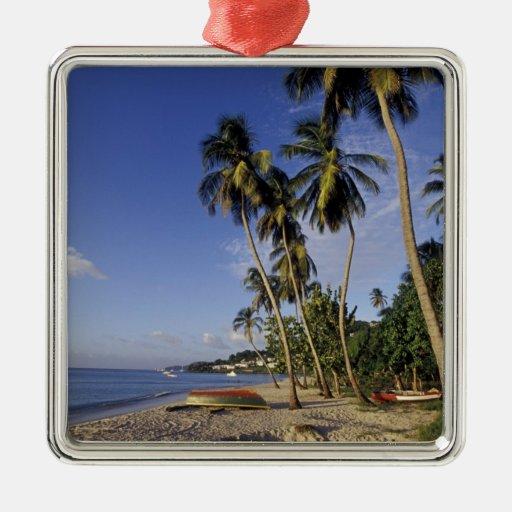 CARIBBEAN, Grenada, St. George, Boats on palm Christmas Tree Ornament