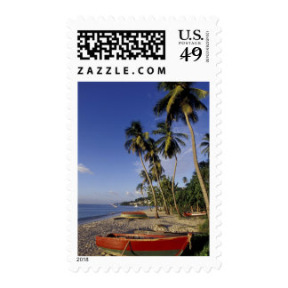 CARIBBEAN, Grenada, St. George, Boats on palm Postage