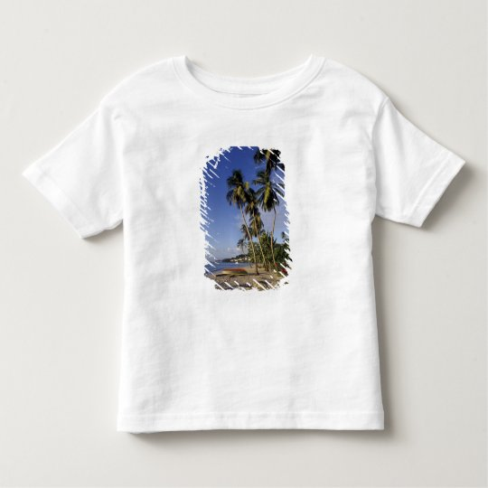 CARIBBEAN, Grenada, St. George, Boats on palm Toddler T-shirt