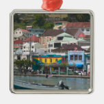 Caribbean, GRENADA, St. George's, St. George's Square Metal Christmas Ornament