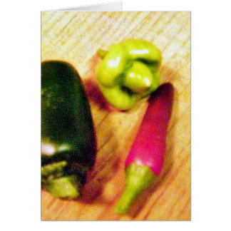 Caribbean Habaneros Serranos Chilies Peppers Greeting Cards