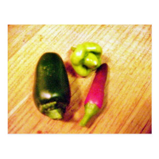 Caribbean Habaneros Serranos Chilies Peppers Post Card