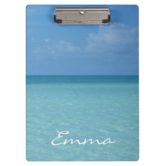 Caribbean Horizon Personalized Clipboards