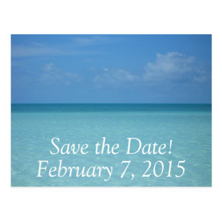 Caribbean Horizon Save the Date Postcard