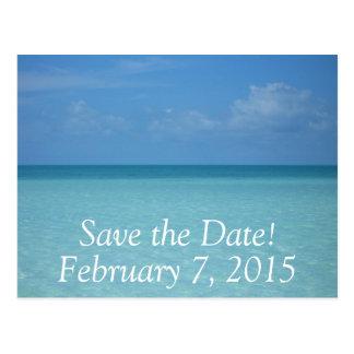 Caribbean Horizon Save the Date Postcard