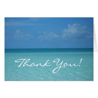 Caribbean Horizon Thank You Card
