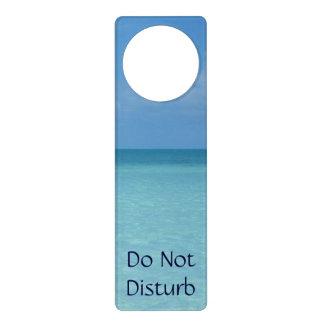 Caribbean Horizon Tropical Turquoise Blue Door Hanger