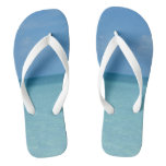 Caribbean Horizon Tropical Turquoise Blue Flip Flops
