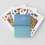 Caribbean Horizon Tropical Turquoise Blue Playing Cards