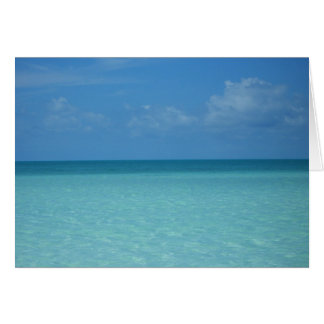 Caribbean Horizon Tropical Turquoise Blue Stationery Note Card