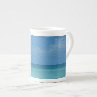 Caribbean Horizon Tropical Turquoise Blue Tea Cup