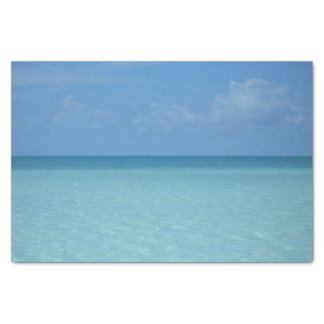 Caribbean Horizon Tropical Turquoise Blue Tissue Paper