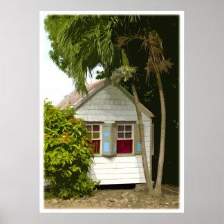 Caribbean House Poster