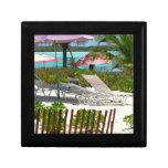 Caribbean Island Beach Scene Jewelry Boxes