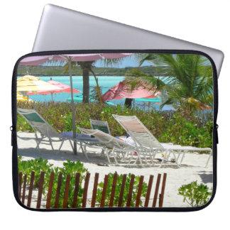 Caribbean Island Beach Scene  Landscape Photo Laptop Sleeve