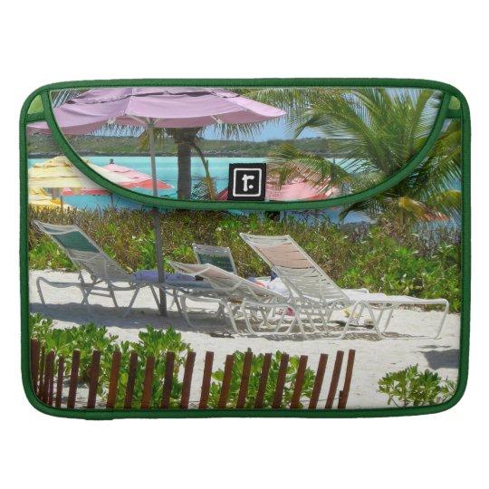 Caribbean Island Beach Scene MacBook Pro Sleeve