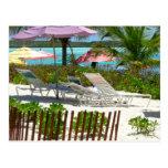 Caribbean Island Beach Scene Postcard