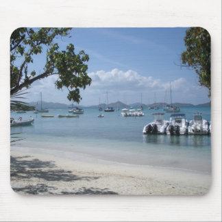 Caribbean Island Harbor with Beach Mouse Pad