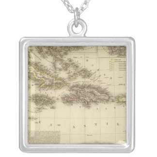 Caribbean Islands and West Indies Silver Plated Necklace