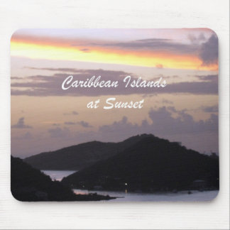 Caribbean Islands at Sunset Mouse Pad