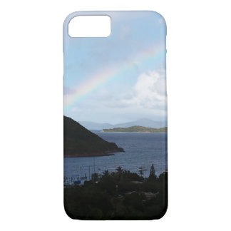 Caribbean Islands with Rainbow and Sunny Clouds iPhone 7 Case