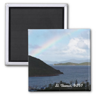 Caribbean Islands with Rainbow and Sunny Clouds Magnet
