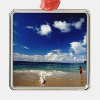 Caribbean, Lesser Antilles, West Indies, 2 Metal Ornament