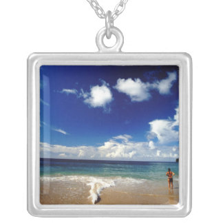 Caribbean, Lesser Antilles, West Indies, 2 Silver Plated Necklace