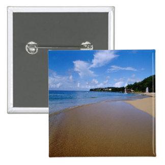 Caribbean, Lesser Antilles, West Indies, 3 Pinback Button