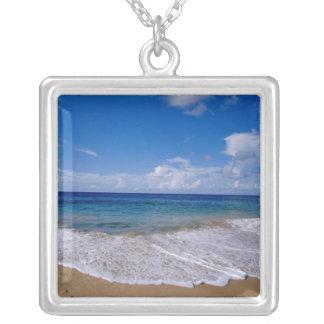 Caribbean, Lesser Antilles, West Indies, 4 Square Pendant Necklace