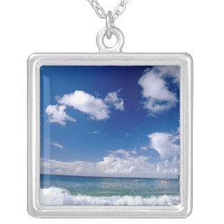 Caribbean, Lesser Antilles, West Indies, 5 Square Pendant Necklace