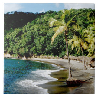 Caribbean, Lesser Antilles, West Indies, Saint Ceramic Tile