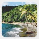 Caribbean, Lesser Antilles, West Indies, Saint Square Sticker