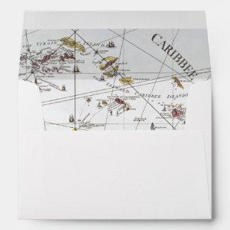 CARIBBEAN: MAP, 1775 ENVELOPE