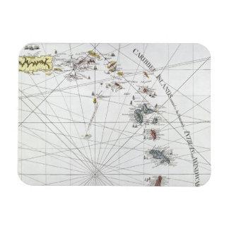 CARIBBEAN: MAP, 1775 RECTANGULAR PHOTO MAGNET