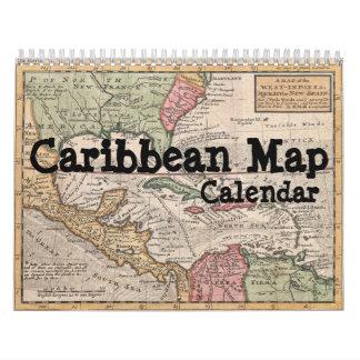Caribbean Map Calendar