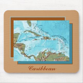 Caribbean Map Mousepad