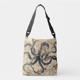 Caribbean Map with Kraken Crossbody Bag