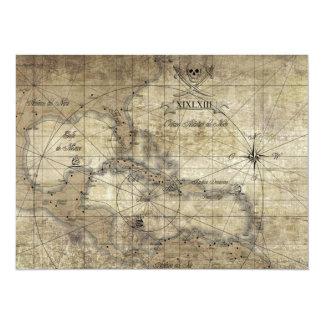 Caribbean - old map card