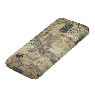 Caribbean - old map case for galaxy s5