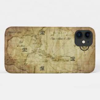 Caribbean - old map... iPhone 11 case