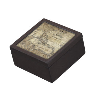 Caribbean - old map gift box