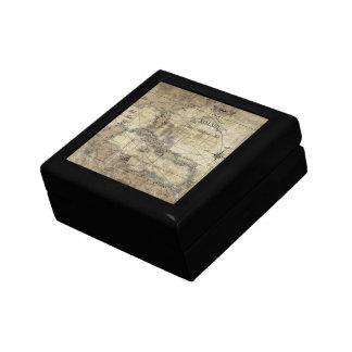 Caribbean - old map keepsake box