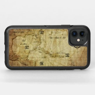 Caribbean - old map... OtterBox symmetry iPhone 11 case