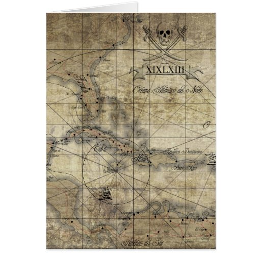 Caribbean - old map gefunden auf Zazzle.de
