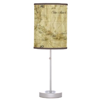 Caribbean - old map... V2 Table Lamp