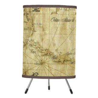 Caribbeanold map... V2 Tripod Lamp