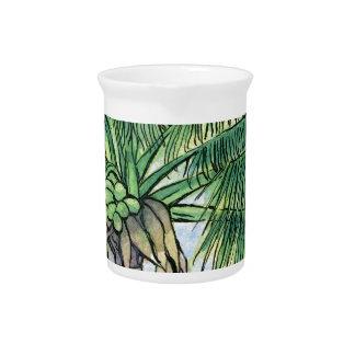 Caribbean palm tree drink pitchers