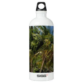 caribbean paradise aluminum water bottle